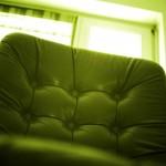 Chefsessel grün gefärbt