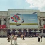 Samsung Werbung auf dem Markusplatz